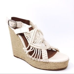 Lucky Brand Woman's Macrame Wedges Size 9